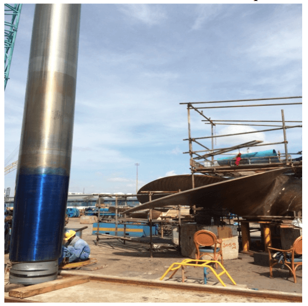 Propeller –tail shaft bedding