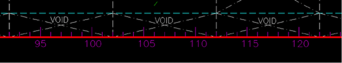 Figure 3: Notice how the frame spacing is shown in the drawing