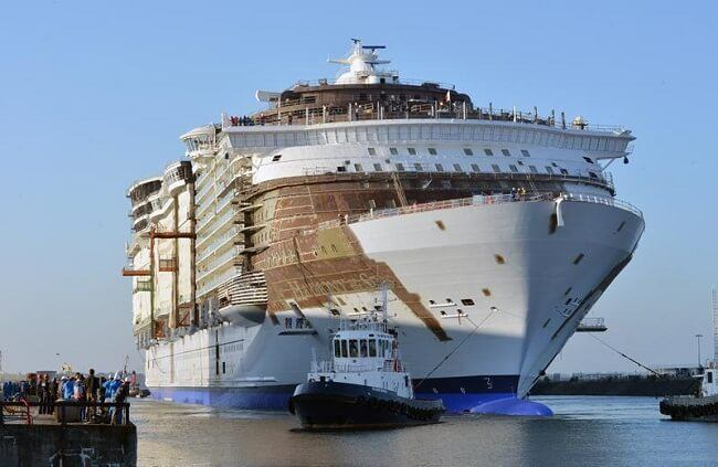 Royal Caribbean's Harmony Of The Seas Completes Next Phase ... Oasis Of The Seas Construction