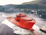 Watch: Launch of Subsea Construction Vessel Edda Freya