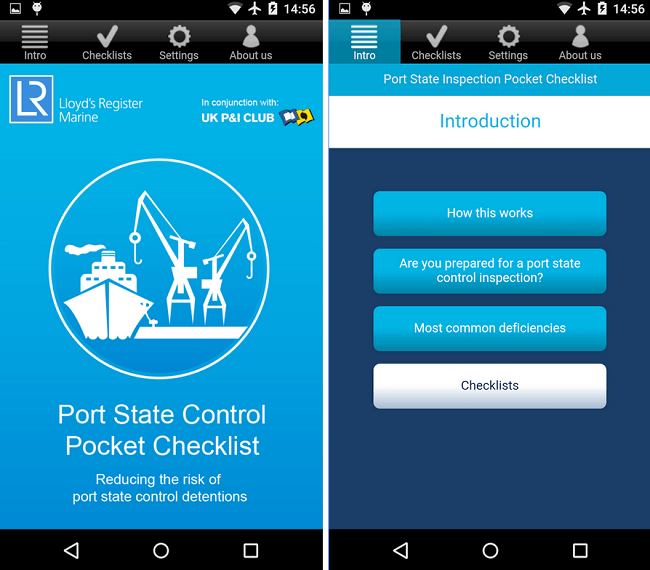 Port State Inspections Pocket Checklists App