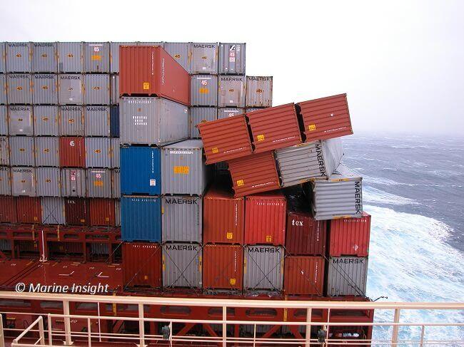container lashing failure
