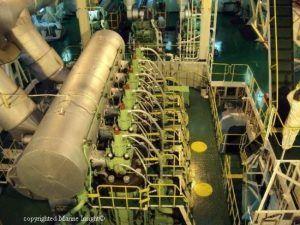 Ship marine engine