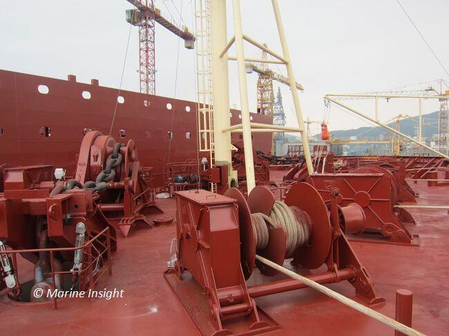 mooring winch deck