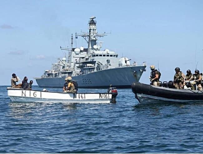 Anti piracy ship