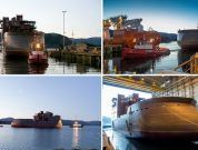 Photos: X-STERN Hull Of New SOV Arrives At Ulstein Verft Shipyard
