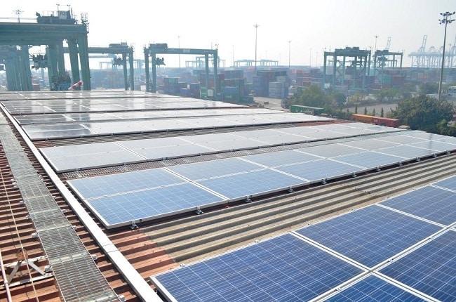 APM Terminals Mumbai solar panels