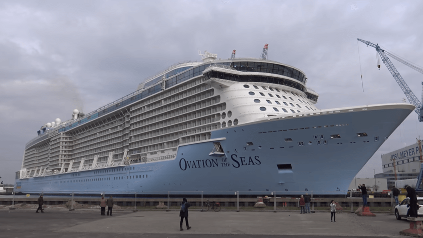 Photos And Video Float Out Of Royal Caribbeans Newest Cruise - How do cruise ships float
