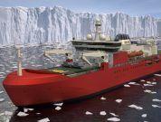 antarctic supply research vessel