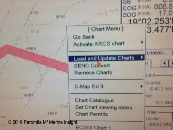 update ecdis chart