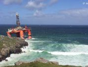 Watch: Grounding Of Oil Rig Transocean Winner