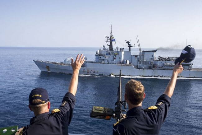 Counter-Piracy Task Forces Meet At Sea In The Gulf Of Aden