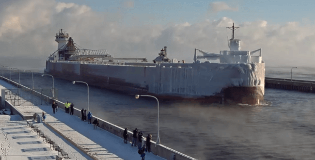 Ice Covered Ship
