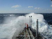 """12 Great Pics of Ships """"Making a Splash"""" in Rough Sea"""