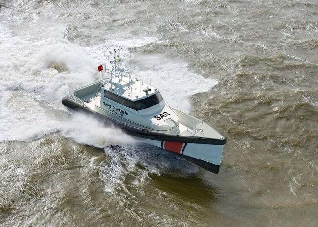 Rolls-Royce will supply MTU diesel engines for six new search and rescue vessels to be built by Damen Shipyards and operated by the Turkish Coastguard.