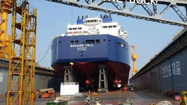 Eduard Toll Teekay Icebreaker LNG-Stern
