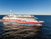 Illustration of Viking Grace with one 24x4 Norsepower Rotor Sail