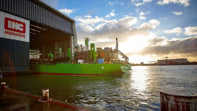 Photo_Royal IHC launches DEMEs LNGpowered TSHD SCHELDT RIVER_1