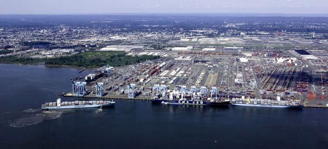 APM Terminals Port Elizabeth New Jersey aerial photo