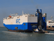 US Car Carrier Berths At Southampton After Catching Fire In English Channel