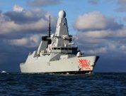 Royal Navy Ship HMS Dragon Rescues 14 Yachtsmen From A Distressed Sailing Vessel
