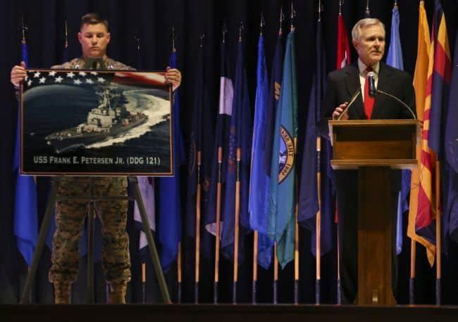 US Navy Keel Laying Frank E Petersen Jr.