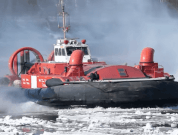 Watch: Canadian Coast Guard's Hovercraft Breaking Up River Ice