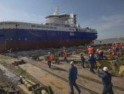 Watch: SOV 'Bibby Wavemaster 1' Launched At Damen Shipyards Galati