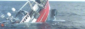 Trawler Sink Lifeboat Rescue