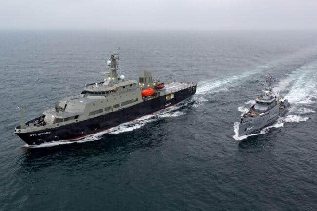 Multi-role Aviation Training Vessel MV Sycamore