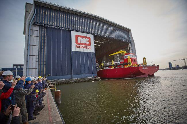 Royal IHC launches first of two Beagle 8 TSHDs for Adani_1