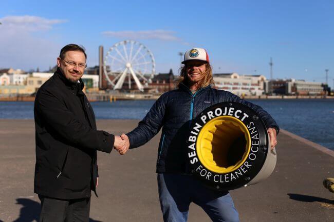 8_Seabin_Helsinki with Juha Kytölä (Wärtsilä) and Pete Ceglinski