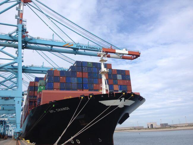 APL CHANGI calls APM Terminals Zeebrugge