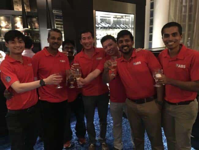 Image 3 ABS staff enjoying the Sailors' Society Singapore Shipping Drinks reception lr