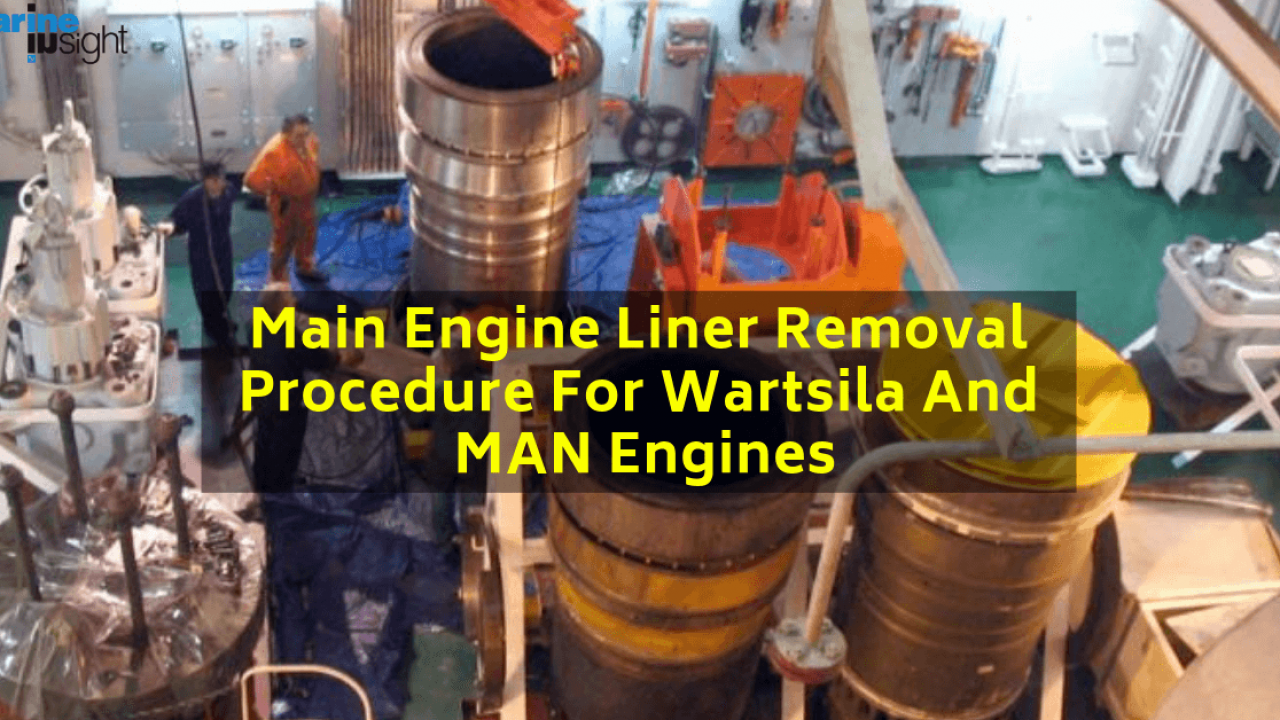 Main Engine Liner Removal Procedure For Wartsila And MAN