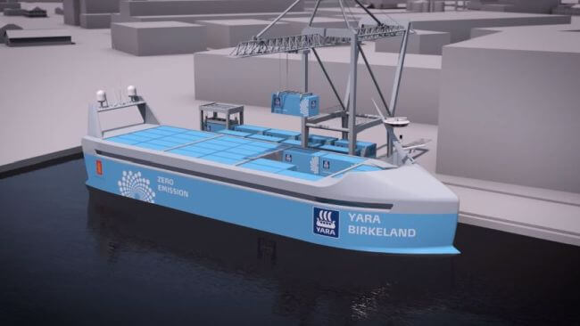 World S First Fully Electric And Autonomous Container Ship