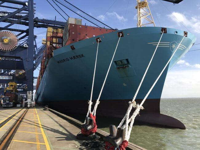HR Wallingford's Ship Simulation of Madrid Maersk Container Ship
