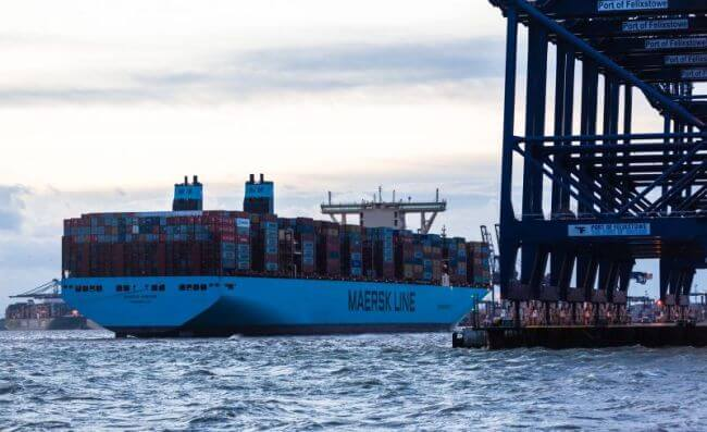 Maersk Madrid Port of felixstowe