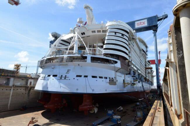 Symphony of the seas float out3