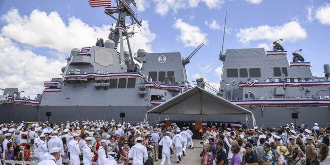 USS John Finn Pearl Harbour Ceremony