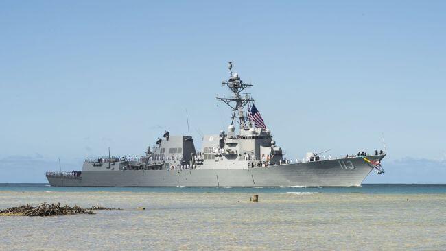 USS John Finn Pearl Harbour Ceremony1