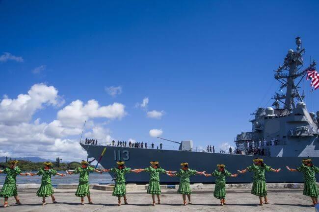 USS John Finn Pearl Harbour Ceremony2