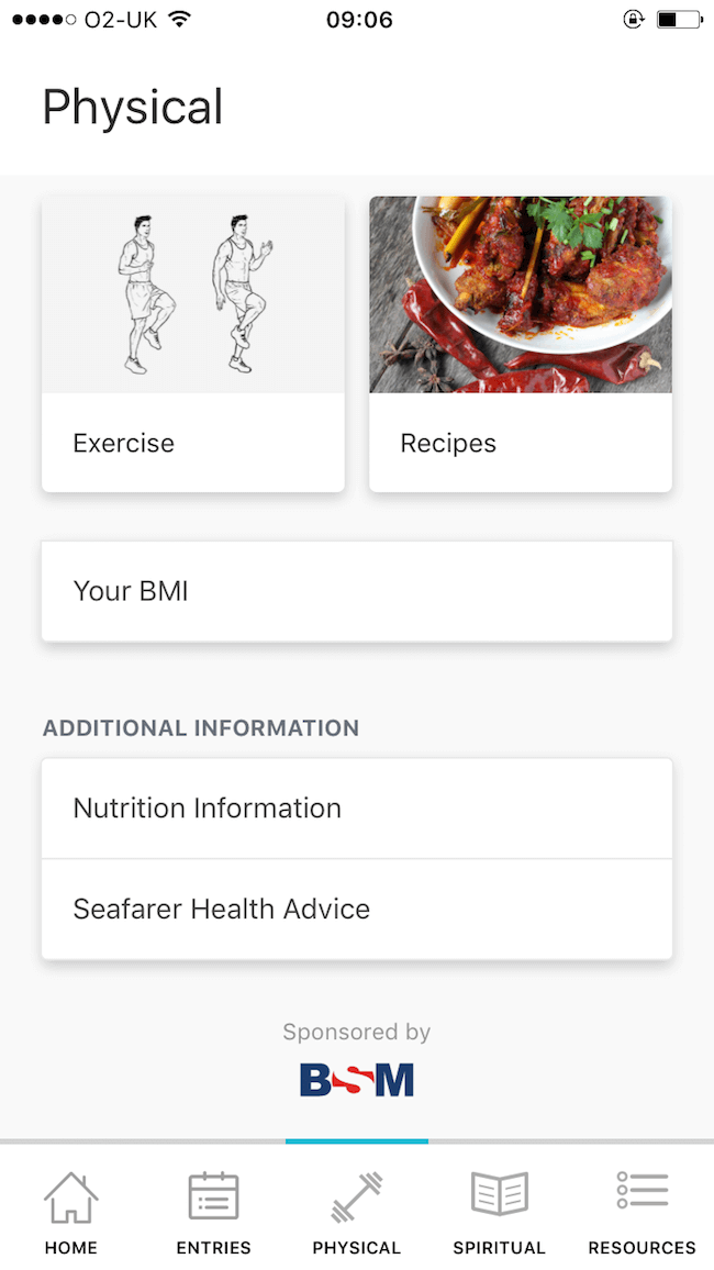 Wellness at Sea app