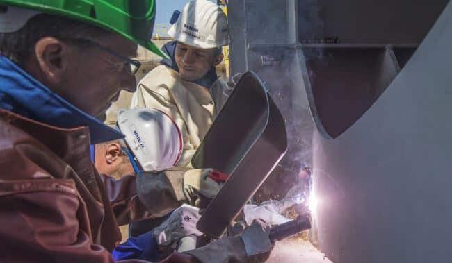 Damen antarctic research vessel keel laying2