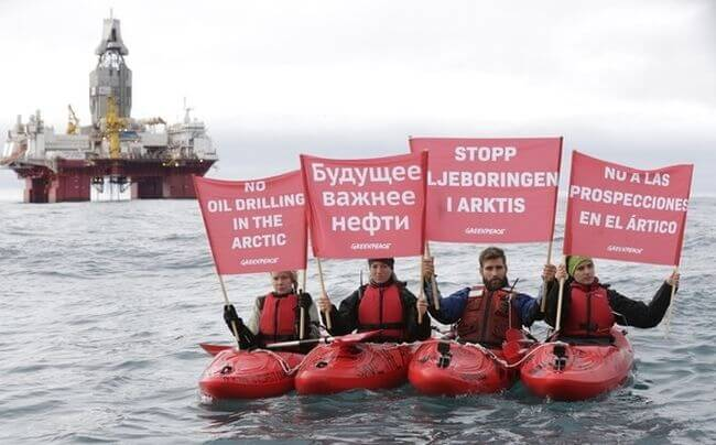 Greenpeace protests norway_arctic drilling