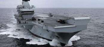 """Royal Navy's Largest Ever Ship """"HMS Queen Elizabeth"""" Commissioned Into The Fleet"""