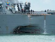 USS John S. McCain Collides With Merchant Ship; 10 Sailors Still Missing