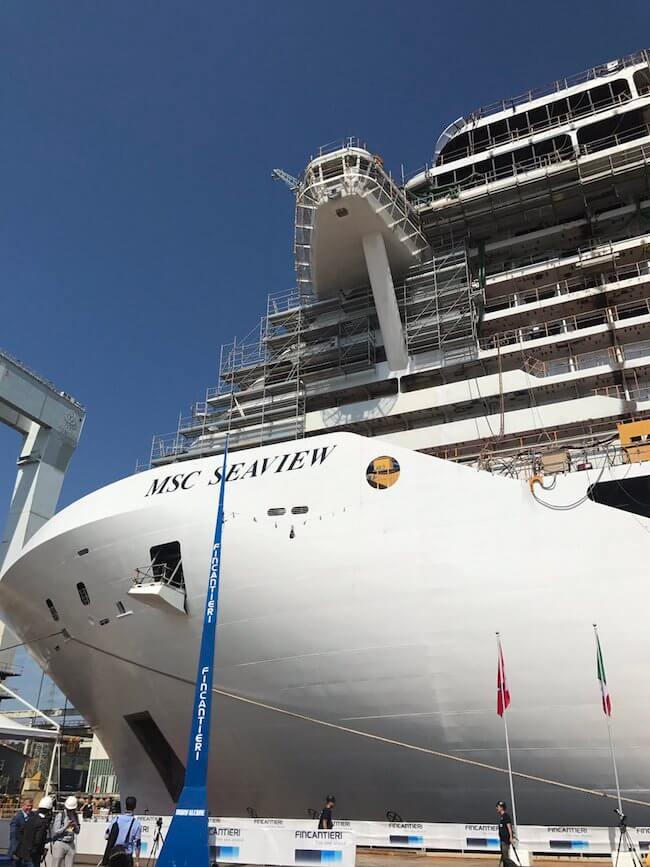 MSC Seaview Float Out Fincantieri