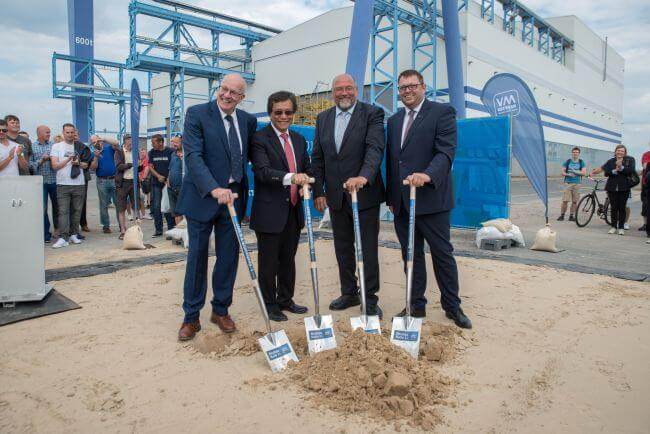 MV Werften Construction hall groundbreaking