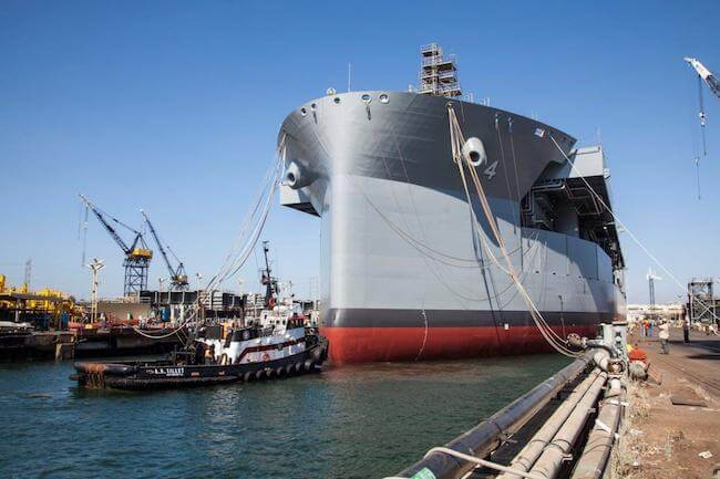 """USNS Hershel """"Woody"""" Williams_Float_Out"""